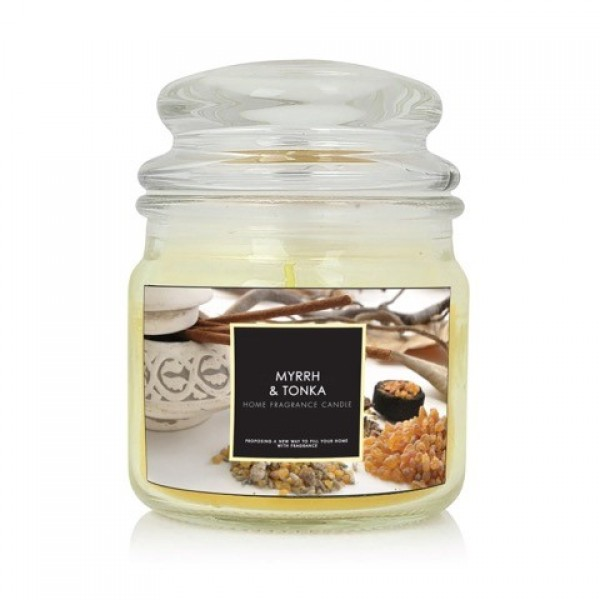 Jar Style Candle 7.5x10cm Scented Myrrh & Tonka New