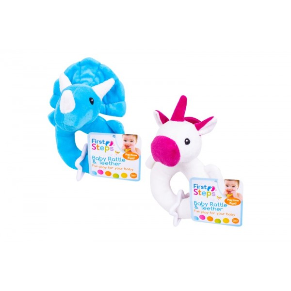 Baby Rattle With Teether 2 Assorted