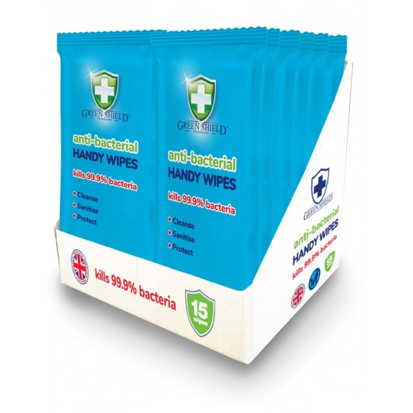 Greenshield Antibac Handy Wipes 15s