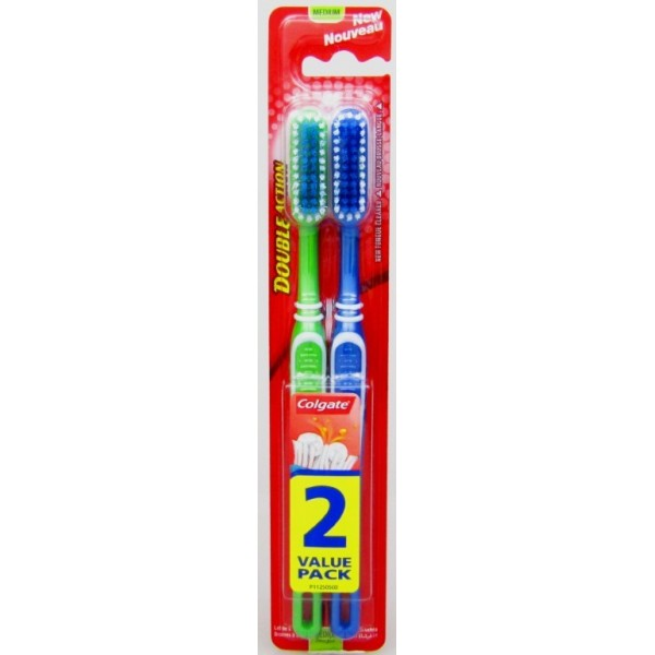Colgate Toothbrush - Double Action - Twin Pack