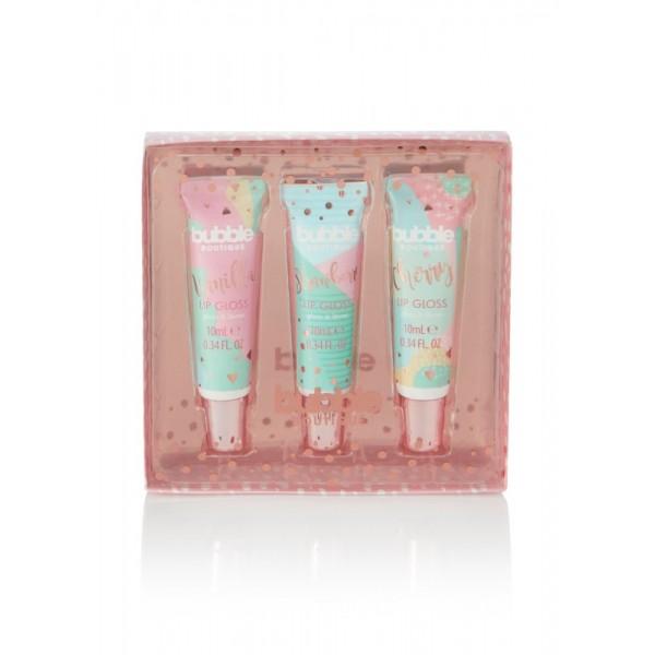 Bubble Boutique 3pc Lip Gloss Set