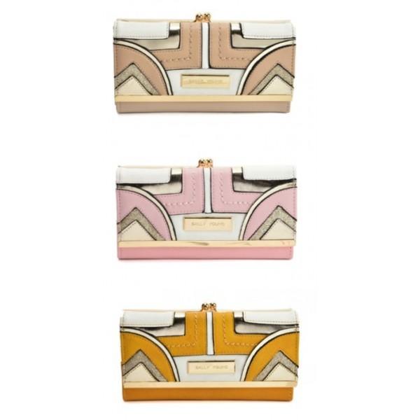 Long Wallet With Colour Collision Splicing Design (3 Colours)