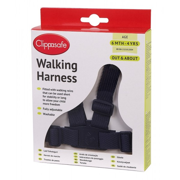 Walking Harness With Rein - Navy