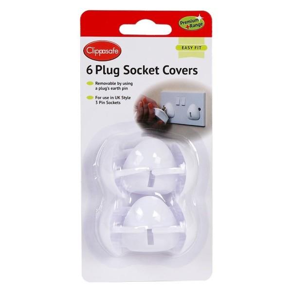 White Plug Socket Covers - 4pk