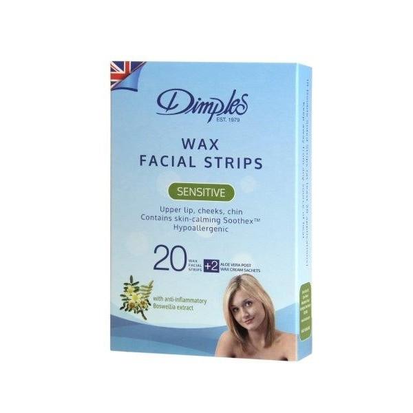 Dimples Depilatory Wax Facial Strips - 6