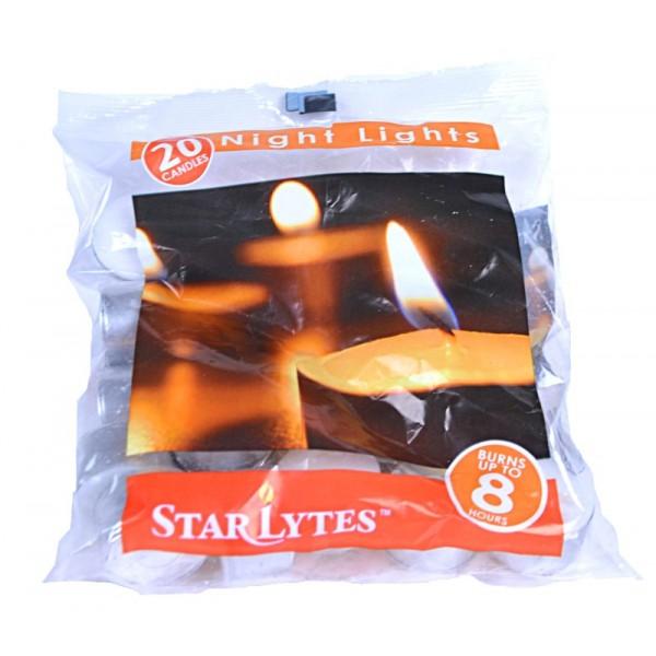 20pk Night Light Tea Light Candles