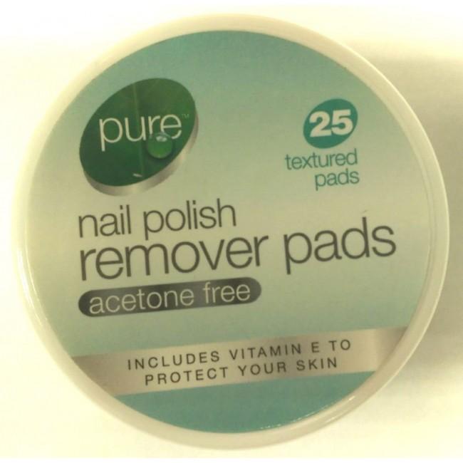 Pure - Nail Polish Remover Pads - PURE - - Kemneeds   Chemists ...