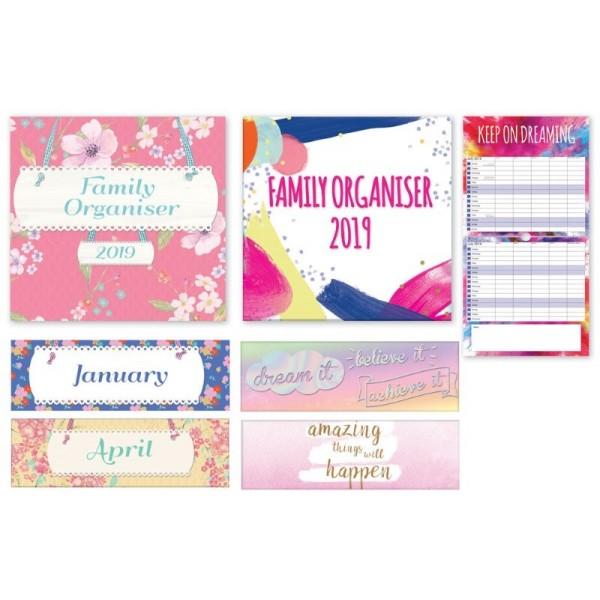 Calendars, Square Family Organiser 2 Designs